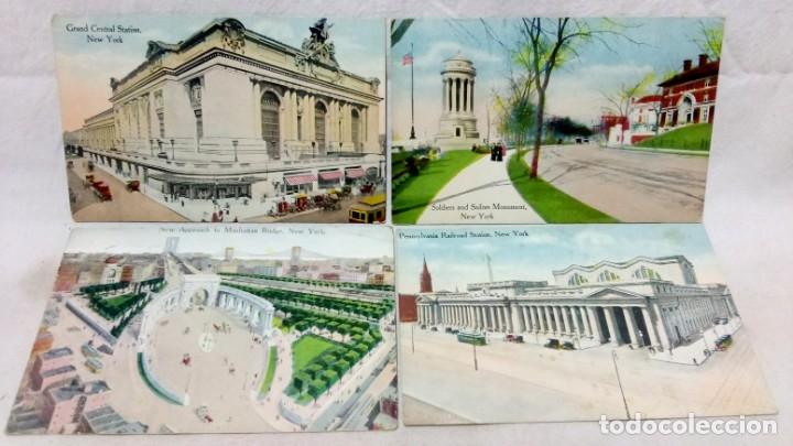 Postales: LOTE 10 ANTIGUAS POSTALES COLOREADAS NEW YORK. POST CARD. SIN ESCRIBIR. - Foto 3 - 165952926
