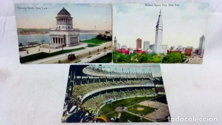 Postales: LOTE 10 ANTIGUAS POSTALES COLOREADAS NEW YORK. POST CARD. SIN ESCRIBIR. - Foto 4 - 165952926