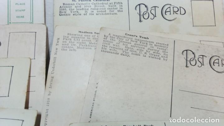 Postales: LOTE 10 ANTIGUAS POSTALES COLOREADAS NEW YORK. POST CARD. SIN ESCRIBIR. - Foto 6 - 165952926