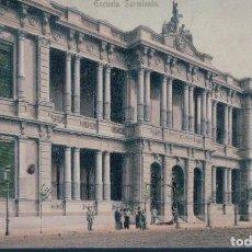 Postales: POSTAL RECUERDO DE BUENOS AIRES - ESCUELA SARMIENTO - ED BARBIER - SIN DIVIDIR - ARGENTINA. Lote 166617190