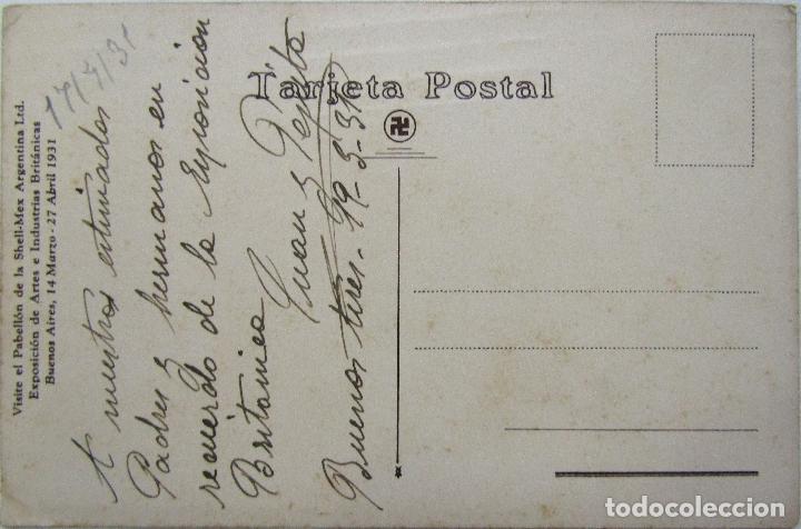 Postales: POSTAL PABELLON SHELL - MEX BUENOS AIRES 1931 - Foto 2 - 166914160