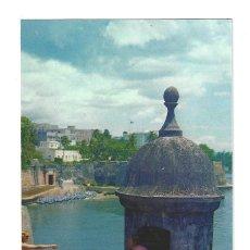 Postales: SAN JUAN.- PARTIAL VIEW OF LA FORTALEZA AND SAN JUAN GATE. PUERTO RICO. COLORAMA- SIN CIRCULAR. Lote 167153948