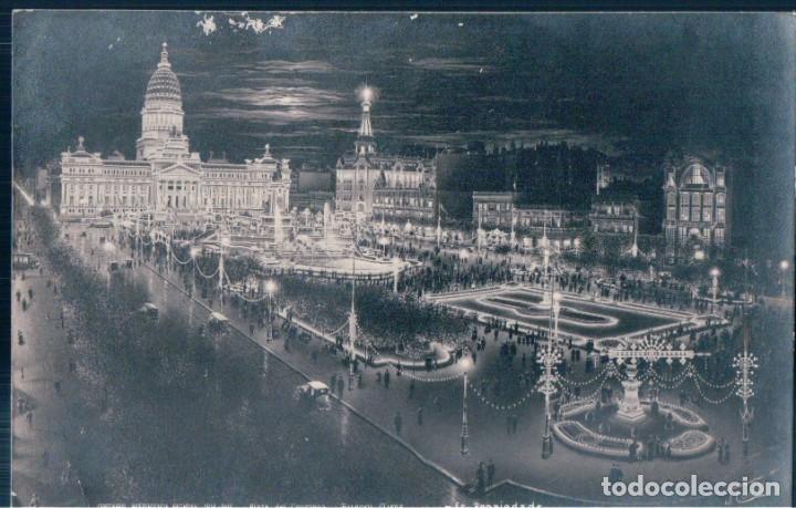 POSTAL BUENOS AIRES - CENTENARIO INDEPENDENCIA ARGENTINA 1816 - 1916 - PLAZA DEL CONGRESO - J CUNILL (Postales - Postales Extranjero - América)