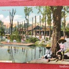 Postales: MEXICO SANTA ANITA POSTAL INDIOS CANOAS POBLADOS LATAPI Y BERT COLOREADA MEJICO 1900 SIN CIRC. Lote 168404888