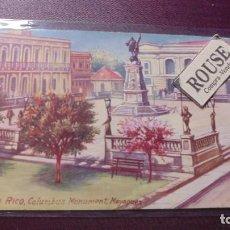 Postales: PUERTO RICO - COLUMBUS MONUMENT MAYAGUEZ - CIRCULADA 14X9 CM. . Lote 169682016
