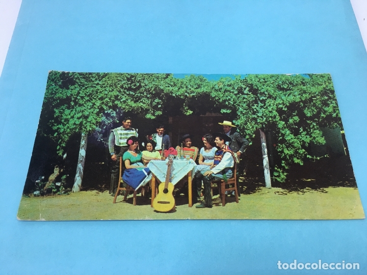 POSTAL PANORAMICA, REPUPLICA DE CHILE, ESCENAS TIPICAS, REUNION CAMPESTRE, ESCRITA Y FECHADA 1968 (Postales - Postales Extranjero - América)