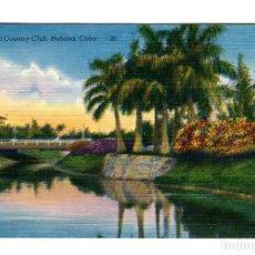Postales: CUBA HABANA VISTA DEL COUNTRY CLUB E. RIBAS-GALIANO CORTESIA CUBANA DE AVIACION SIN ESCRIBIR. Lote 170678995