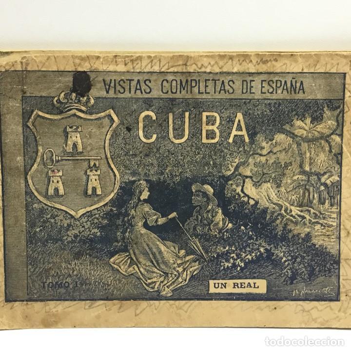 Postales: VISTAS COMPLETAS DE ESPAÑA CUBA - TOMO I - UN REAL - ANTERIOR A 1900 - 1ª PÁGINA ROTA - Foto 2 - 171011305