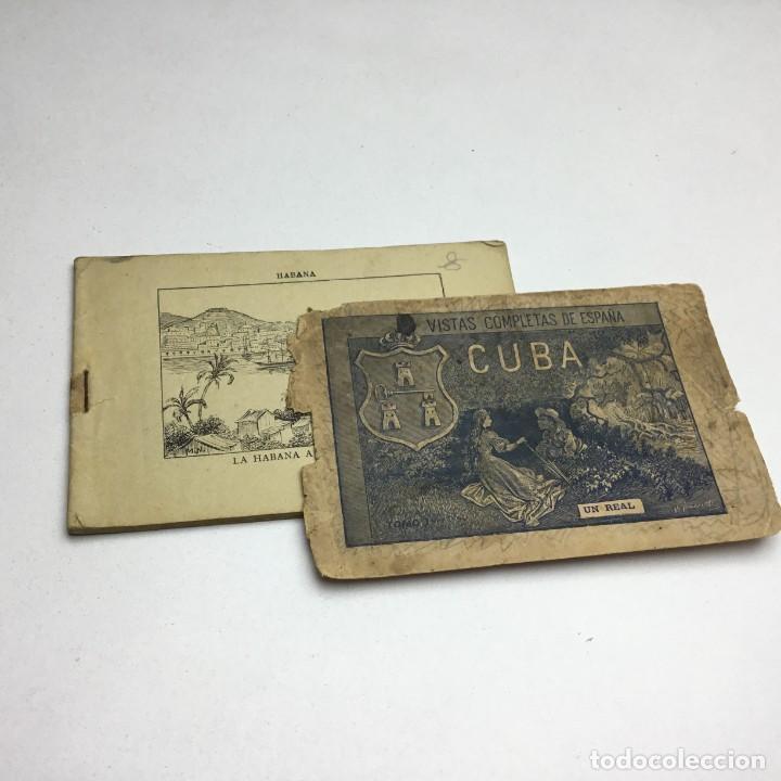 Postales: VISTAS COMPLETAS DE ESPAÑA CUBA - TOMO I - UN REAL - ANTERIOR A 1900 - 1ª PÁGINA ROTA - Foto 3 - 171011305