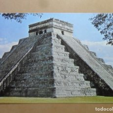 Postales: POSTAL - 61 - ARTE PRECOLOMBINO - TEMPLO DEL KUKULCAN O CASTILLO DE CHICHEN ITZA - COL. PERLA. Lote 171540440
