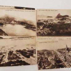 Postales: 23 POSTALES DE RIO DE JANEIRO, (BRASIL), FOTOTÍPIA, (CIRCA 1900), SIN CIRCULAR. Lote 171602477