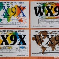 Postales: COLECCION POSTALES RADIO AFICIONADO VALPARAISO INDIANA USA 1961. Lote 171654904