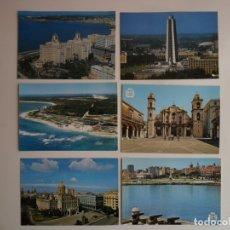 Postales: 6 POSTALES DE LA HABANA (CUBA). Lote 172477339