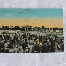 Postales: POSTAL MONTEVIDEO, BAÑOS PLAYA RAMIREZ EN LA ARENA. 1913, ED. A. CARLUCCIO. Lote 174213610