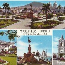 Postales: PERÚ. TRUJILLO. PLAZA DE ARMAS. 1970. BUEN ESTADO. 10X15 CM. . Lote 175749303