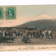 Postales: ATLIXCO - EL POPOCATEPETL - MEXICO - POSTAL ANTIGUA. Lote 175788878