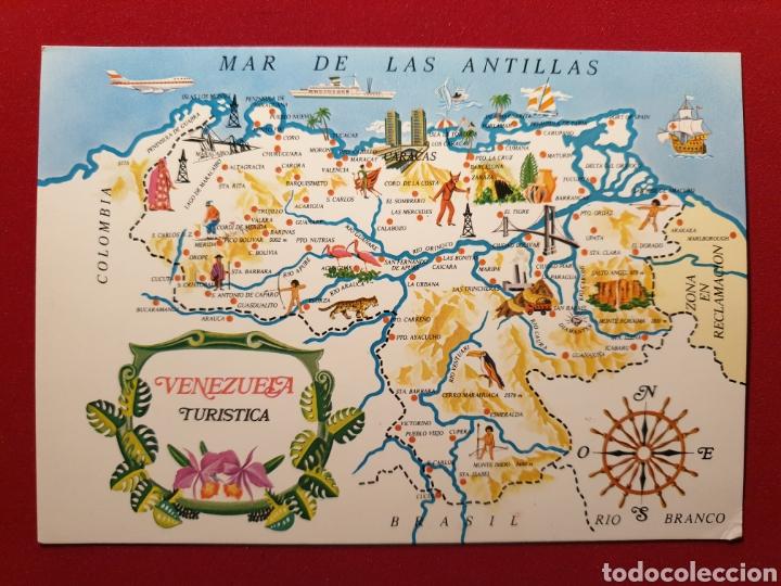 VENEZUELA TURÍSTICA. MAPA Y MAR DE LAS ANTILLAS. TARJETAS SANTIAGO Nº 252 (Postales - Postales Extranjero - América)
