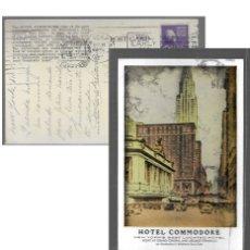 Postales: POSTAL * NEW YORK , HOTEL COMMODORE * AÑO 1951. Lote 176980204