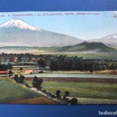 Postales: POSTAL ANTIGUA MEXICO COLOREADA 1900 EL POPOCATEPELT Y EL IXTLACIHUATL ATLIXCO POSTAL MEJICO F M . Lote 177141154
