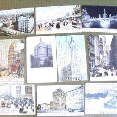 Postales: LOTE DE 10 POSTALES ANTIGUAS DE NUEVA YORK. EN TORNO A 1910.. Lote 177494797