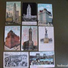 Postales: LOTE DE 8 POSTALES ANTIGUAS DE NUEVA YORK. EN TORNO A 1910.. Lote 177495005