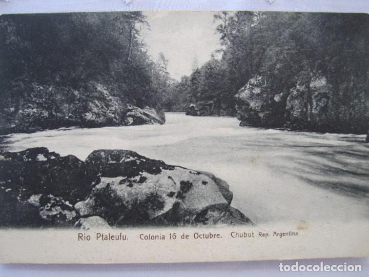 80-CHUBUT-TARJETA POSTAL DEL RIO PTALEUFU-PRINCIPIOS SIGLO XX-ARGENTINA (Postales - Postales Extranjero - América)