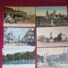 Postales: EXCEPCIONAL LOTE DE 7 POSTALES COLOREADAS. MEXICO. ENTRE 1909 Y 1925. Lote 178343977