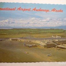 Postales: POSTAL AEROPUERTO INTERN.ANCHORAGE ALASKA. Lote 178771555