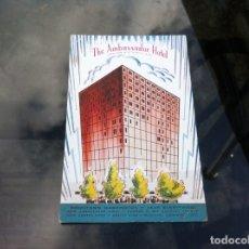 Postales: POSTAL THE AMBASSADOR HOTEL. WASHINGTON. POST CARD NO ESCRITA. 14 X 9CM. Lote 178974673