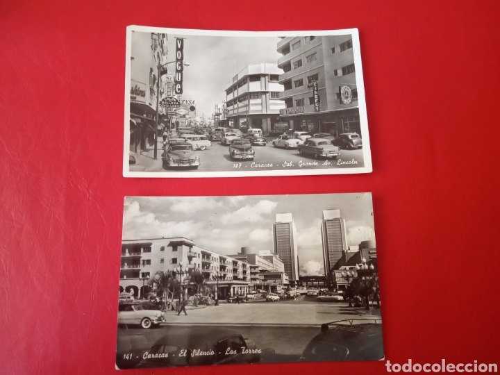DOS POSTALES ANTIGUAS CARACAS VENEZUELA (Postales - Postales Extranjero - América)