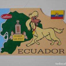 Postales: ECUADOR. POSTAL TROQUELADA SIN ESCRIBIR. CUETARA. B.R.B. INTERNACIONAL. V CENTENARIO. TVE. . Lote 182260681