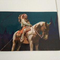 Postales: POST CARD / INDIO AMERICANO / CIRCULADA EN ESPAÑOL AÑOS 60. Lote 182264906