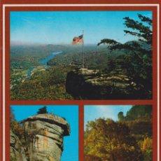Postales: EUA, CAROLINA DEL NORTE, CHIMNEY ROCK, PARQUE NACIONAL – APS K10-357 – S/C. Lote 182882035