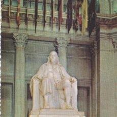 Postales: EUA, PHILADELPHIA, PENNSYLVANIA, FRANKLIN MEMORIAL STATUE – PLASTICHROME – S/C. Lote 182883652