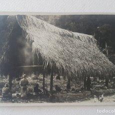 Postales: COBERTIZO TRADICIONAL INDIGENA SUR YUNGAS BOLIVIA EXPEDICION ALEMANA POSTAL ANTIGUA. Lote 183473228