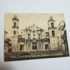 Postales: POSTAL ORIGINAL. 6.5 X 4.6CM. DÉCADA 30. Nº 1490. CUBA. HABANA. LA CATEDRAL. Lote 183944751