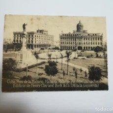 Postales: POSTAL ORIGINAL. 6.5 X 4.6CM. DÉCADA 30. Nº 1487. CUBA. HABANA. PALACIO PRESIDENCIAL. HENRY CLAY. Lote 183948025