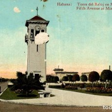 Postales: HABANA. TORRE DEL RELOJ EN MIRAMAR. Lote 184324070