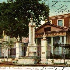 Postales: CUBA HABANA EL TEMPLETE. Lote 184324083
