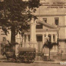 Postales: HABANA EL TEMPLETE DE COLON. Lote 184324168