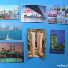 Postales: NUEVA YORK - 7 POSTALES TORRES GEMELAS. Lote 184904977