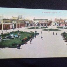 Postales: POSTAL ANTIGUA MONTEVIDEO PLAZA INDEPENDENCIA ESCRITA. Lote 186136926