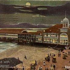 Postales: TARJETA POSTAL. EEUU. NUEVA JERSEY. ATLANTIC CITY. 77.-THE STEEL PIER BY MOONLIGHT. . Lote 186414336