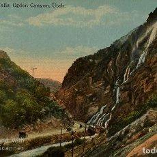 Postales: TARJETA POSTAL. EEUU. UTAH. OGDEN CANYON. BRIDAL VEIL FALLS. . Lote 186414721