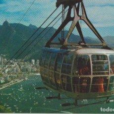 Cartes Postales: BRASIL, TELEFÉRICO DE PAO DE AÇUCAR, PANORÁMICA - EDICARD 350 - S/C. Lote 187379098
