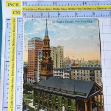 Postales: POSTAL DE ESTADOS UNIDOS. AÑOS 10 30. NUEVA YORK NEW YORK. ST PAUL'S CHAPEL. 1804. Lote 187458053