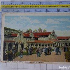 Postales: POSTAL DE ESTADOS UNIDOS. AÑOS 40 60. NEW MEXICO SCENE AT SANTA FE STATION ALBURQUERQUE. 1809. Lote 187458238