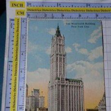 Postales: POSTAL DE ESTADOS UNIDOS. AÑO 1923. NUEVA YORK NEW YORK, RASCACIELOS THE WOLLWORTH BUILDING. 1810. Lote 187458288