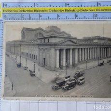 Postales: POSTAL DE ESTADOS UNIDOS. AÑOS 10 30. NEW YORK NUEVA YORK, PENNSYLVANIA RAILROAD STATION. 1812. Lote 187458427