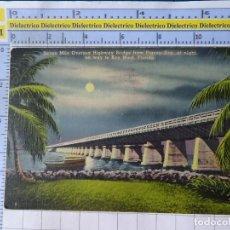 Postales: POSTAL DE ESTADOS UNIDOS. AÑO 1940. SEVEN MILE OVERSEA BRIDGE PIGEON KEY FLORIDA. 1815. Lote 187458560